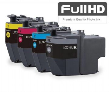 Brother LC3219XL High Capacity 4 Colour Ink Cartridge Multipack (LC-3219XLBK/C/M/Y)